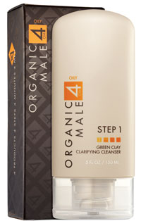 Organic Male OM4 Green Clay Clarifying Cleanser