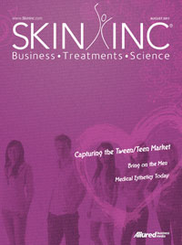 August 2011 Skin Inc. magazine cover