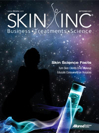 September 2011 Skin Inc. magazine cover