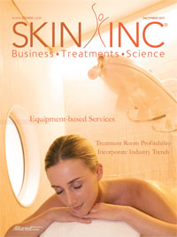 December 2011 Skin Inc. magazine cover