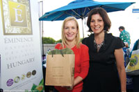 Angela Kinsey, left, star of television show, The Office, with Stephanie Baresh, Éminence's director of marketing, at the event.
