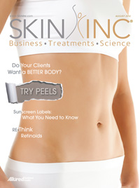 Skin Inc. August 2012 cover