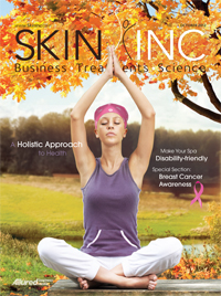 Skin Inc. October 2012 magazine cover