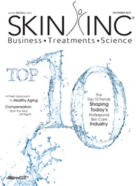 Skin Inc. December 2012 cover
