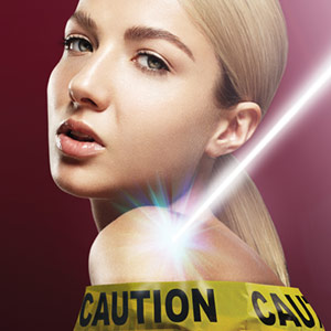 Lasers and caution tape