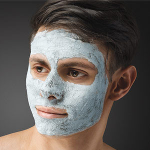 Man with a facial mask