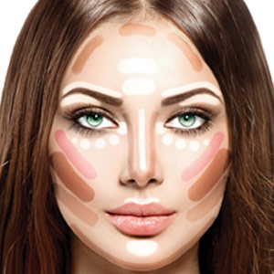 Contouring on the face