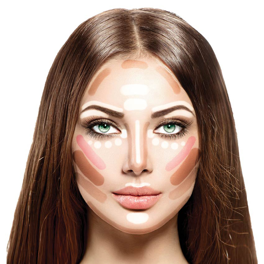 Face with contouring