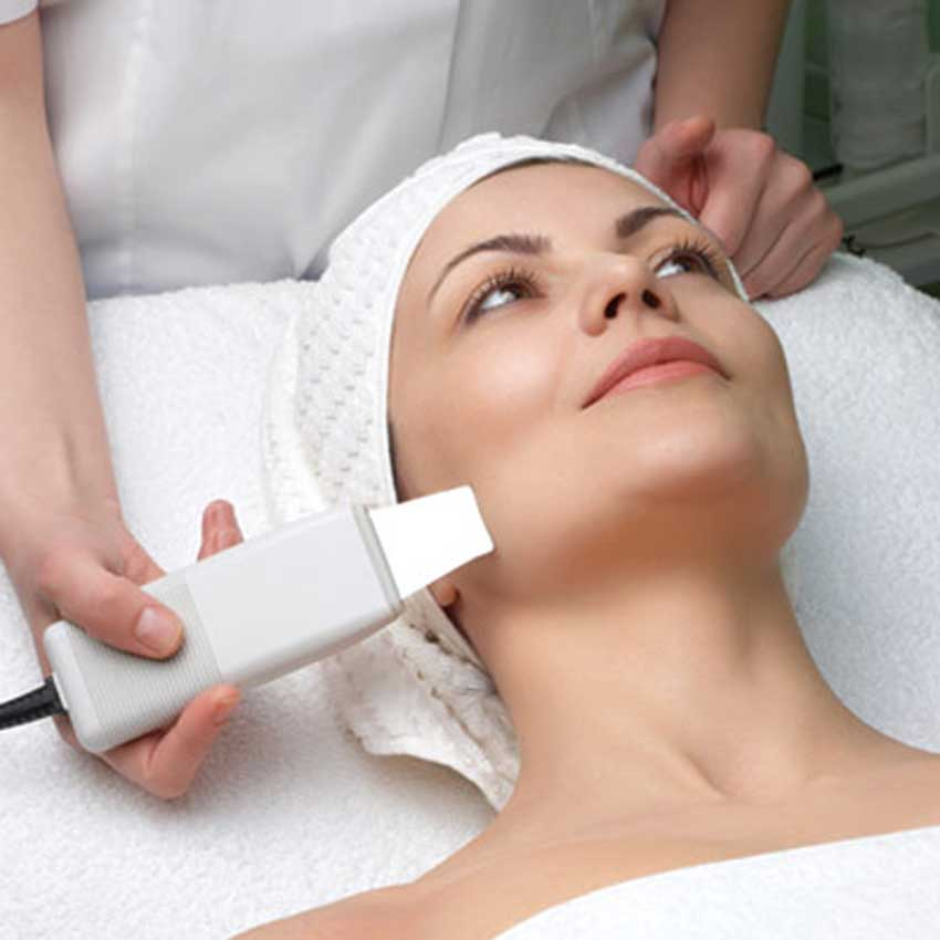Ultrasound facial treatment