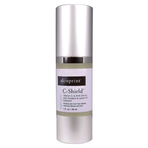 Skinprint C-Shield Vitamin C and AHA Serum Antioxidant and Leave on Exfoliant
