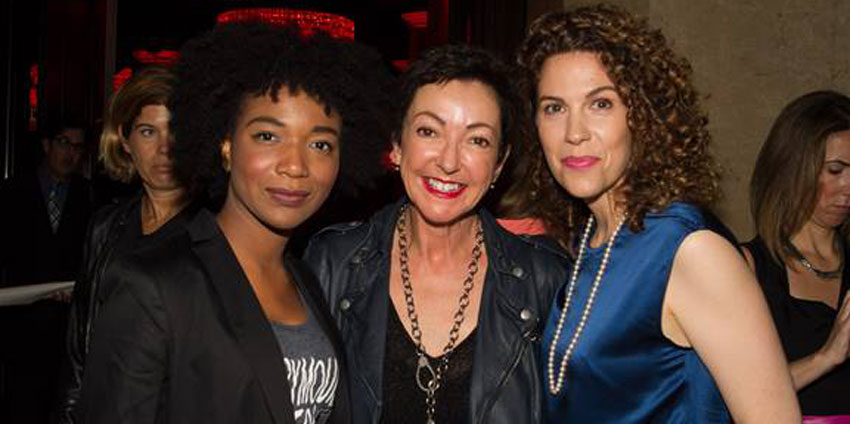 From left: FITE winner Christina Coombs, Jane Wurwand and Jenni Luke, CEO of Step Up Women's Network
