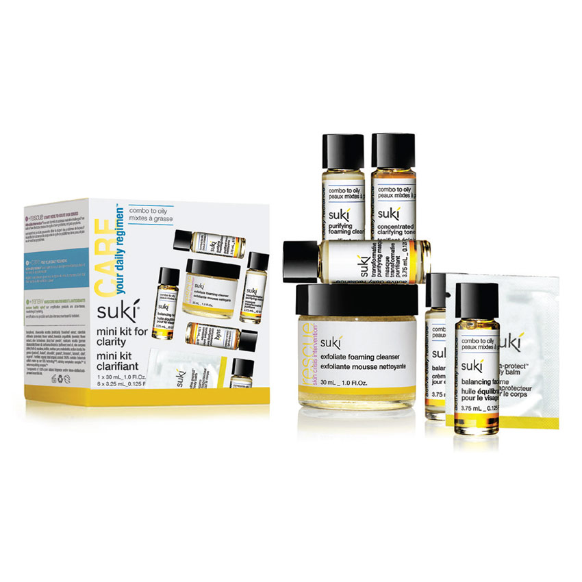 Suki Skincare's Care-Active Daily Regimen Mini Kit for Clarity