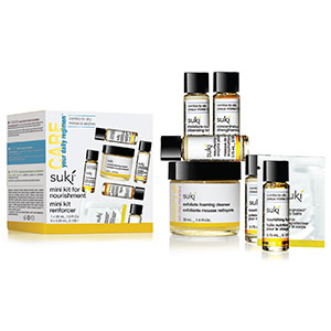 Suki Skincare's Care-Active Daily Regimen Mini Kit for Nourishment