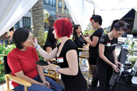 The design team from SFIEC gave consumer attendees free makeovers.