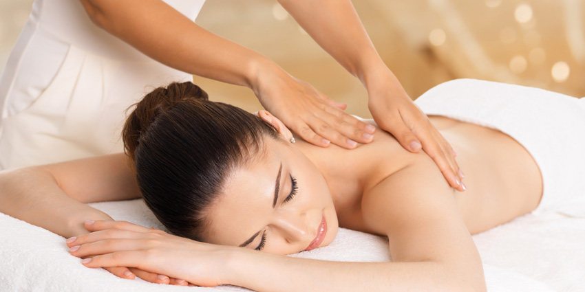 Woman at a spa getting a treatment