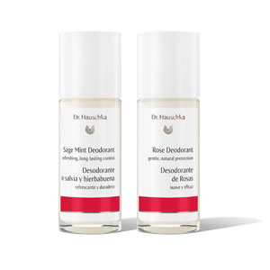 Rose Deodorant and Sage Mint Deodorant by Dr. Hauschka