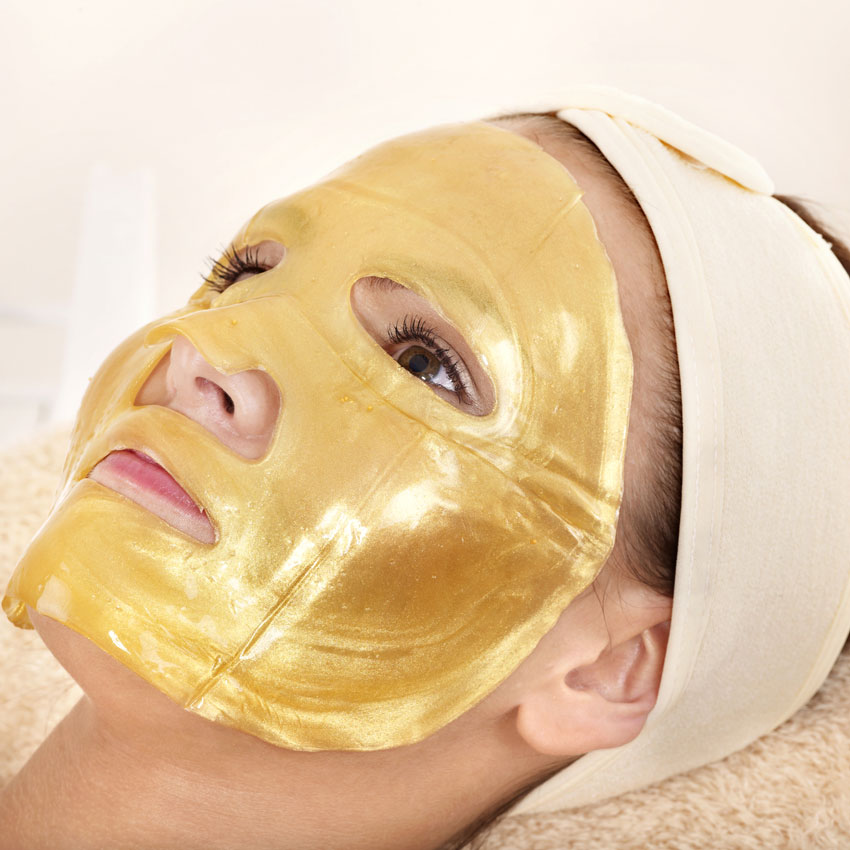 Gold sheet mask