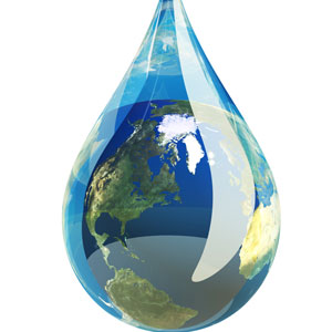 Earth in a drop of water