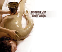 male spa client getting body wrap