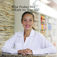 skin care professional in skin care facility's retail area