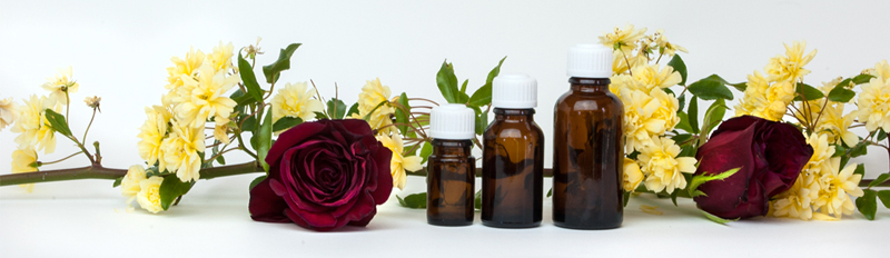 An array of essential oils