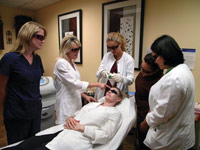 medical esthetics training session