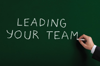 Leading Your Team spa chalkboard