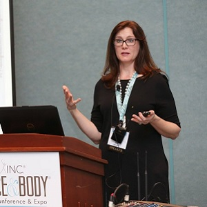 A speaker at Face & Body