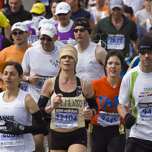 People running the Boston Marathon
