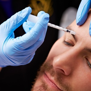 A man receiving BOTOX
