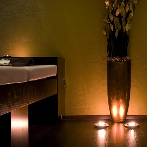 A spa treatment room