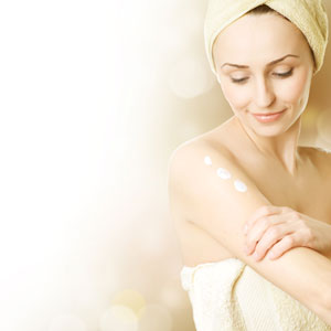 Woman in a spa towel