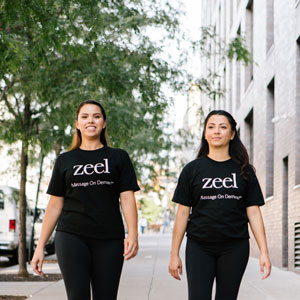 Two employees from Zeel
